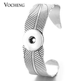 VOCHENG NOOSA Open Bangle Ginger Snap Jewelry Interchangeable Fit 18mm Button NN-475
