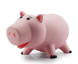 Wholesale New Toy Story Hamm Piggy Bank Pink Pig Coin caixa de PVC Modelo Brinquedos para crianças de centímetros Com Box transporte livre