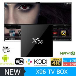 Pc hd en Ligne-X96 Smart TV BOX 4K Android 6.0 Amlogic S905X Quad Core H.265 Lecteur multimédia KODI Marshmallow Mini PC 2.4GHz Wifi Miracast Airplay DLNA VS MXQ
