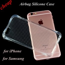 Wholesale in stcok New Transparent Airbag Drop Resistance Soft Silicone TPU Cover Case For iPhone5s plus s plus galaxy S7 Edge A7100 A5100 A9100