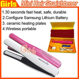Wholesale NEW Rechargeable Cordless Hair Straighteners Portable USB Charger Wireless Hair Straighteners Iron in Hair Curl Tools Fast shipping