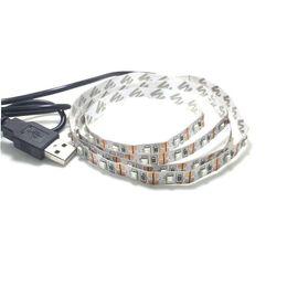 Wholesale USB DC V SMD Led Strip m m m m m Flexible No waterproof IP33 Leds m Lights TV Background Computer Box Car