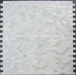 Wholesale Shell mosaic mother of pearl tile backsplash brick sea shell tiles white mother of pearl tiles bathroom mosaic tile