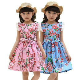 Summer Dress 2016 Dresses For Girls of 12 years Sleeveless Printed Big Size Princess Dress Teenagers Kids Clothes