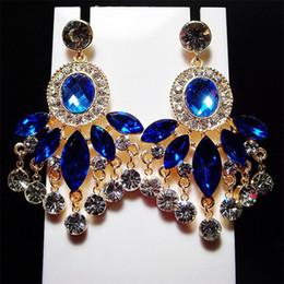 Bohemia Vintage Ears Jewelry Wholesale Charm Color Resin Stud Earrings 2016 Large Crystal Beaded Drop Dangle Earring For Women Ladies Gift