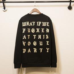 Wholesale The Life Of Pablo Kanye West Hoodie Men Hip Hop Pull Paris Opening Y ee zys Jackets I feel Like Paul Sweatshirts Y ee z us Tour