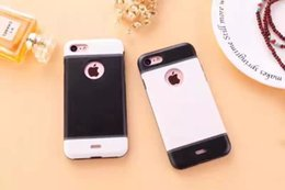 Wholesale Iphone7 mobile phone shell Apple plus mobile phone sets of two color armor anti fall protective cover hard shell all inclusive