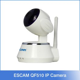Wholesale ESCAM Secure Dog QF510 HD P MP Pan Tilt WIFI Onvif P2P Alarm Indoor Infrared Dome IP Camera Support Motion Detection
