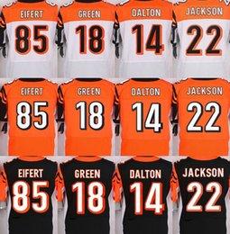 Wholesale Cincinnati NIK Elite Bengals jerseys rugby football jerseys DALTON GREEN EIFERT JACKSON black orange white freeshipping