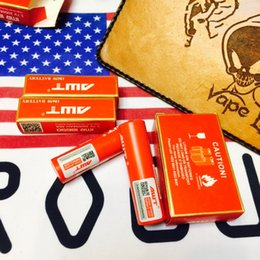 Wholesale 4PCS High drain AMT V mAh A battery red skin Aweite IMR18650 rechargeable li lon battery Electronic cigarette power battery