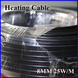 -5M al por mayor / lot anti-helada Protección del cable calefactor para la pipa de agua / Techo 230V 25W 8 MM / M autorregulable Calentador eléctrico de alambre de cobre desde cable calefactor techo fabricantes