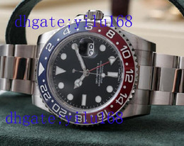 Wholesale Top quality sapphire GOLD II RED BLACK MM LATEST RELEASE automatic men s Sport WristWatches