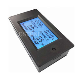 Wholesale AC V LCD Digital A Volt Watt Power Meter Ammeter Voltmeter