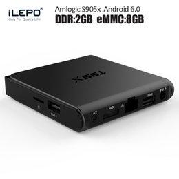 Wholesale T95X android Smart TV Box Amlogic S905X Quad Core Android6 gb gb T95X tv box sex xxl live Media Palyer OTT TV Box