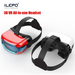 Wholesale Smart D Virtual Reality Head Set All in one VR Box Android Wireless Wifi Bluetooth P Full Format Video Play GB GB VR Glasses DHL