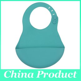 Wholesale Bibs Children eating bibs waterproof pocket dimensional imitation silicone baby bibs baby pocket meals bibs bibs scarves children
