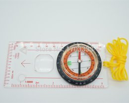 Wholesale Portable Mini Baseplate Compass Scale Map Ruler for Outdoor Camping Hiking Cycling Scouts H8617