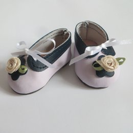 Doll Shoes Fits for 18'' American Girl Doll Shoes With Flower Doll Princess Accessories with Track Code