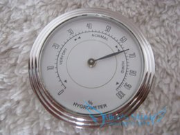 Wholesale Quality Metal Importers Analog Hygrometer mm Round Glass Analog Hygrometer for Humidors