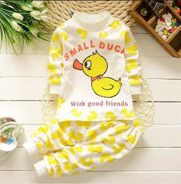 2016 spring summer Childrens underwear suits O-neck pure cotton baby boys and girls cartoon pattern sets kids clothing.