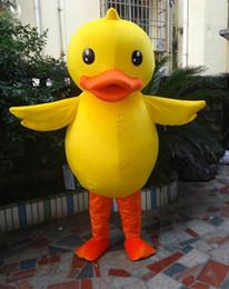 Hongkong rhubarb duck Mascot Cartoon Costume Costume Costume Halloween Costume yellow duck mascot