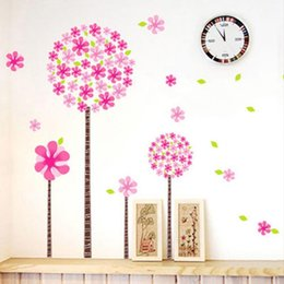 Descuento armarios niños Pink Pandora árbol pegatinas de pared para niños sala de vestuario de chicas Decorationcreative etiquetas del arte para niños extraíble