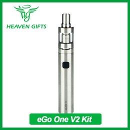 Promotion commencer ego kit Joyetech eGo ONE V2 Kit de démarrage avec 2 ml de capacité Atomiseur 1500mAh Batterie Variable tête de bobine Airflow Control eGo Kit de démarrage rapide