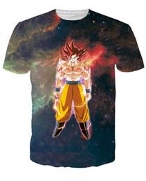Newest Women Men Hipster Galaxy 3D T Shirt Anime Dragon Ball Z Goku t shirts Tees Summer Casual Tee Shirts Tops Brand Clothing