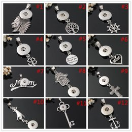 Noosa Metal Ginger Snap Button Chunk Necklaces Bracelets Charms DIY Jewelry Accessories Noosa Chunk Necklace Pendants