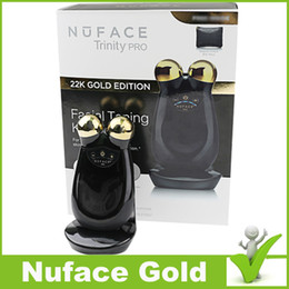 Wholesale NuFACE Trinity Facial Trainer Kit K Gold Holiday Limited Edition Facial Toning Anti Aging Skin Care Treatment Device Facial Massager Devic