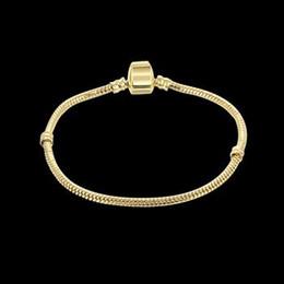 Wholesale Gold plated cm length Authentic Plated Bracelet Fit Pandora Bracelet or Chamilia Bead Charms