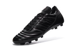 Wholesale 2016 Men s Copa Mundial FG Soccer Shoes Outdoor Best Quality Leather Athletic Soccer Football Shoes Cheaper Popular Black Soccer Sneakers