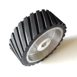 Wholesale 200 mm Serrated Rubber Contact Wheel Belt Sander Polisher Grinder Wheel Sanding Belt Set