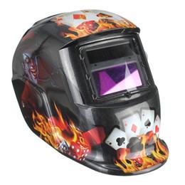 Wholesale Poker Auto Darkening Solar Welder Masks Welding Helmet ARC TIG MIG Weld Lens Grinding MAC_10B