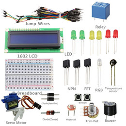 Wholesale universal Cheapest types Overvalue SunFounder New Project LCD Starter Kit for Arduino UNO R3 Mega for Nano Beginner