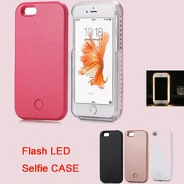 Wholesale For iphone7 plus Bright night Light UP Flash LED Selfie Luminous Hard Back Case Cover For iPhone6 Plus s DHL Free SCA153