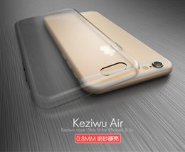 Creative Ultra-thin Transparent Shell PC Hard Case Simple Back Clear Case Cover For iPhone 7 6S 10pcs Lot