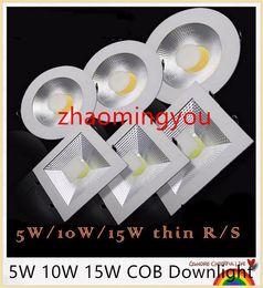 YON Super bright Round COB Led downlight 5W 10W 15W 220V 110V Recessed LED Ceiling light down light Lamp White  warm white