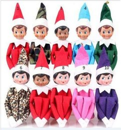 Wholesale Christmas Elf Toys Plush Style On The Shelf Elves Xmas Dolls For Kids Holiday And Christmas Decorations Party Ornament Gift DHL Free