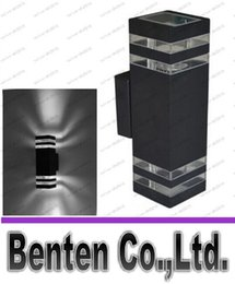 Wholesale Gray black Outdoor Waterproof IP65 Aluminum LED Wall Lamps Garden Lights Balcony Lamp LLFA