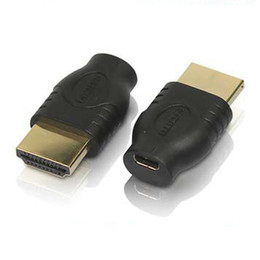 Wholesale 100pcs lot New HDMI Male TO Micro HDMI Female D Type to HDMI 1.4 A type Male Cable Adapter converter