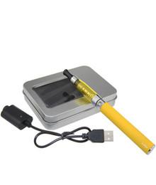 Métal cas ecig en Ligne-Kit d'étui en aluminium CE5 eGo-T - 1PCs. Paquet de boîte cadeau pour un seul ego ce5 vaporisateur et eGo 650 900 1100mAh batterie ecig starter kit