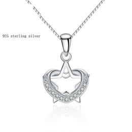 A202 The Qixi Festival China tranditional Valentine day jewelry 925 Sterling Silver Multi shape micro star and heart-shaped pendant
