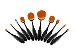 Wholesale Best Makeup Brushes Set Oval Blending Brush Multipurpose Mermaid Toothbrush Foundation Powder Soft Face Brushes Professional Makeup Tools
