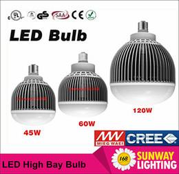 Wholesale 2016 NEW Cree Chip Led Bulb E27 E39 E40 W W W LED High Bay Light LED industrial lamp bulb Warehouse lights UL