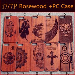 Wholesale Genuine Wood Case For Iphone Hard Cover Carving Wooden Phone Shell For Apple Iphone Plus Bamboo Housing Luxury Retro Protector