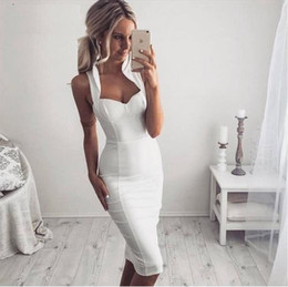 wholesale 2016 new white elegant luxury off shoulder bodycon evening party sexy dress women knee-length bandage Dress