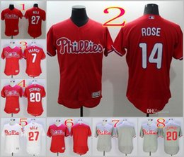 Wholesale 2016 Flexbase Stitched Philadelphia Phillies Franco Schmidt Nola Rose Blank Red Gray White MLB Jersey Mix Order