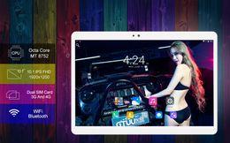 10.1 4G polegada tablet pc Android 7.0 octa núcleo RAM 4 GB ROM 32GB Dual SIM GPS Bluetooth 1920*1200 IPS Smart tablets pcs 10 ''101''