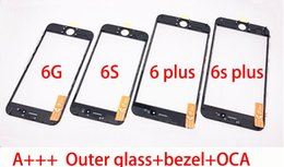 High Quality Cold Press 6S plus 3 in 1 Front Outer Glass with Frame OCA Film Assembly Replacement for iPhone 6s